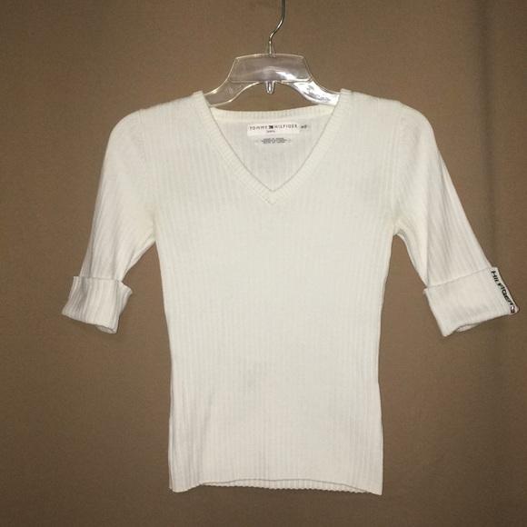Tommy Hilfiger Sweaters White Sweater Juniors Medium Poshmark